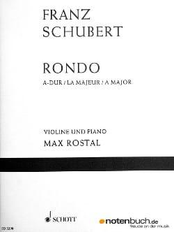 SCHUBERT - Rondo A-Dur D 438 - Violine Klavier - Partition - di-arezzo.fr