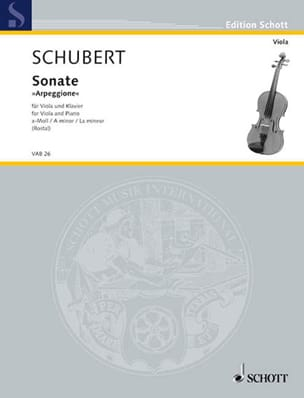 Franz Schubert - Sonate Arpeggione a-Moll D. 821 - Partition - di-arezzo.fr