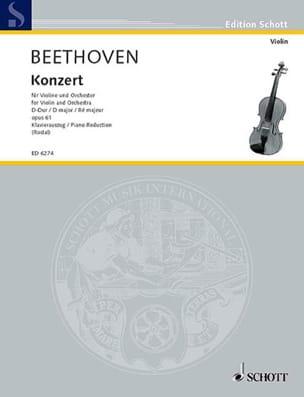 Ludwig van Beethoven - Concerto pour Violon et Orchestre en Ré Majeur - Opus 61 - Partition - di-arezzo.fr