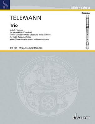 Trio g-moll - Alblockflöte Violine Bc TELEMANN Partition laflutedepan