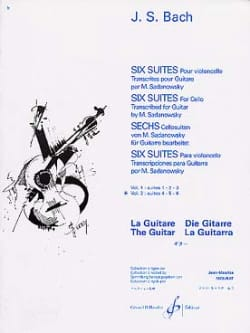 BACH - 6 Suites guitare - Volume 2 : Suites 4.5.6 - Partition - di-arezzo.fr