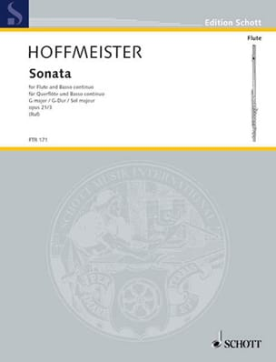 Franz Anton Hoffmeister - Sonate en sol majeur -flûte et basse continue - Partition - di-arezzo.fr