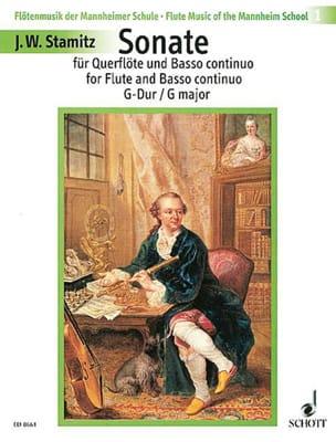 Sonate G-Dur - Flöte und Bc STAMITZ Partition laflutedepan