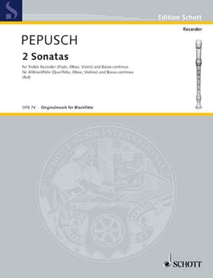 Johann Christoph Pepusch - 2 Sonaten - Altblockflöte u. Bc - Sheet Music - di-arezzo.co.uk