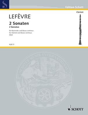 2 Sonaten - Klarinette und Bc Xavier Lefèvre Partition laflutedepan