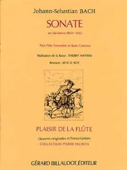 Johann Sebastian Bach - Sonate en sol mineur BWV 1020 – flûte Bc - Partition - di-arezzo.fr
