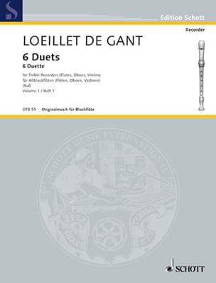 de Gant Jean Baptiste Loeillet - 6 Duette - Bd 1 – 2 Altblockflöten - Partition - di-arezzo.fr