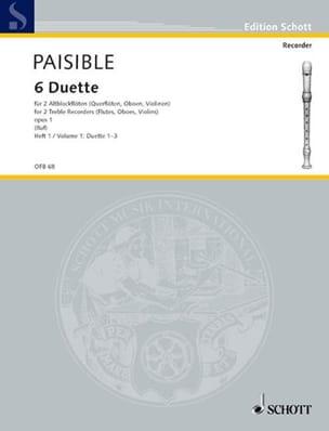 6 Duette op. 1, Bd 1 Nr. 1-3 -2 Altblockflöten - laflutedepan.com