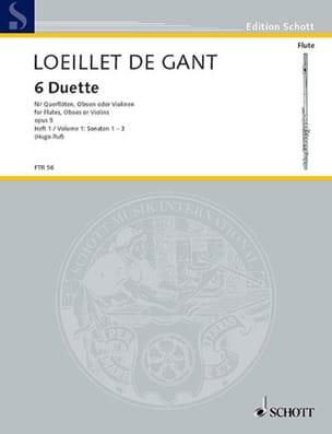 de Gant Jean Baptiste Loeillet - 6 Duette op. 5 - Heft 1 – 2 Flöten (Oboen, Violinen) - Partition - di-arezzo.fr
