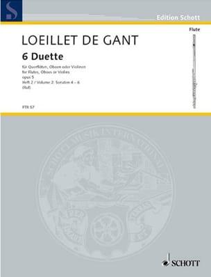 de Gant Jean Baptiste Loeillet - 6 Duette op. 5 - Heft 2 – 2 Flöten (Oboen, Violinen) - Partition - di-arezzo.fr