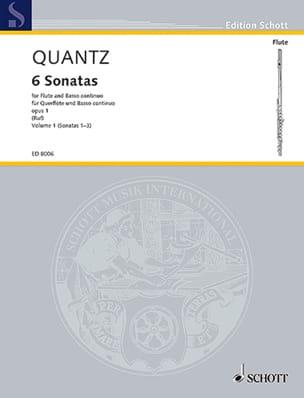 Johann Joachim Quantz - 6 Sonatas op. 1 - Bd. 1 - Flauta y Bc - Partition - di-arezzo.es