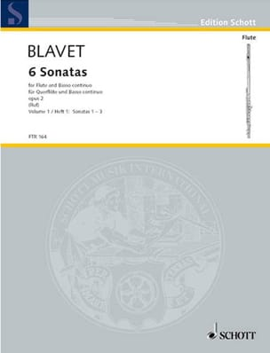 Michel Blavet - 6 Sonatas Opus 2 - Volume 1 - Sheet Music - di-arezzo.co.uk