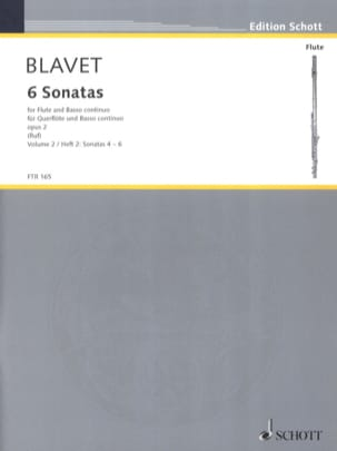 Michel Blavet - 6 Sonatas Opus 2 - Volume 2 - Sheet Music - di-arezzo.co.uk