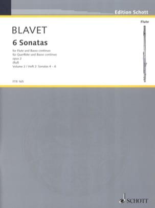 Michel Blavet - 6 Sonatas Opus 2 - Volume 2 - Sheet Music - di-arezzo.co.uk