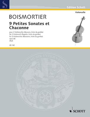 BOISMORTIER - 9 Small Sonatas and Chaconne, op. 66 - Sheet Music - di-arezzo.co.uk