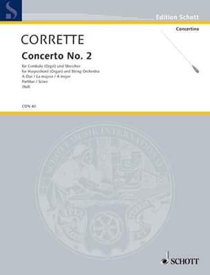 Concerto n° 2 en la majeur - Michel Corrette - laflutedepan.com