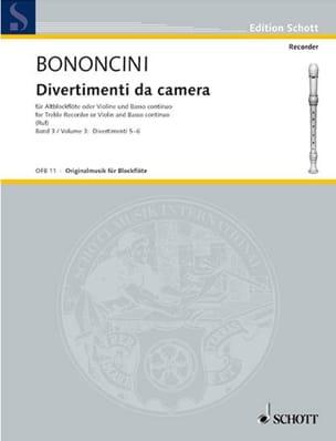 Giovanni Battista Bononcini - Divertimenti da Camera (Volume 3) –Altblockfl. o. Violine u. BC - Partition - di-arezzo.fr