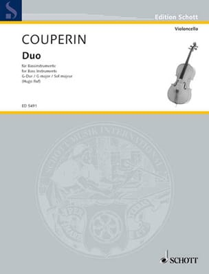 Duo G-Dur - Bassinstrumente COUPERIN Partition laflutedepan