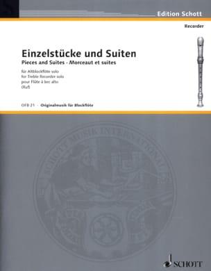 - Einzelstücke und Suiten –Altblockflöte solo - Partition - di-arezzo.fr