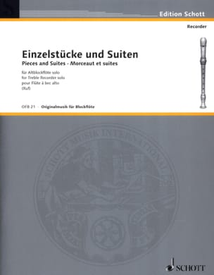 Einzelstücke und Suiten -Altblockflöte solo - laflutedepan.com