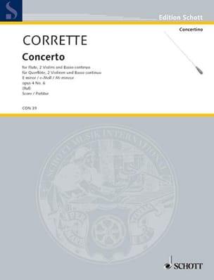 Concerto pour flûte en mi min. op. 4 n° 6 - laflutedepan.com