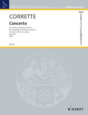 Concerto A-Dur -2 Flöten Bc CORRETTE Partition Trios - laflutedepan