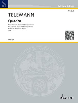 TELEMANN - Quadro B-Dur - Sheet Music - di-arezzo.co.uk