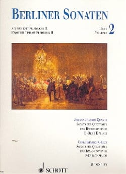 Quantz Johann Joachim / Graun Carl Heinrich - Berliner Sonaten - Heft 2 - Partition - di-arezzo.fr