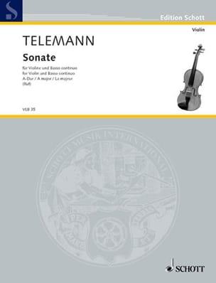 Sonate A-Dur - TELEMANN - Partition - Violon - laflutedepan.com