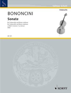 Giovanni Battista Bononcini - Sonate A-Moll - Violoncello - Partition - di-arezzo.fr