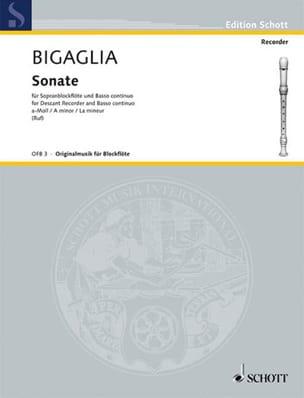 Sonate A-Moll La Mineur Diogenio Bigaglia Partition laflutedepan