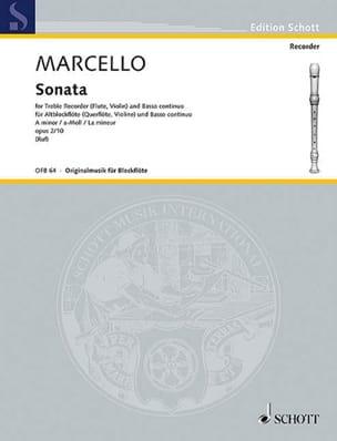 Sonate a-moll, op. 2/10 – Altblockflöte u. Bc - laflutedepan.com
