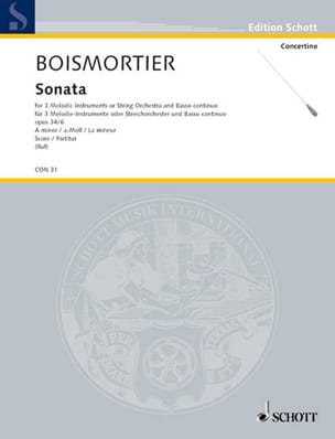 Sonate en la mineur, op. 34 n° 6 - BOISMORTIER - laflutedepan.com