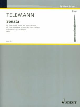 TELEMANN - Sonate B-Dur -Oboe Flöte, Violine u. Bc - Partition - di-arezzo.fr