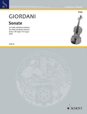Sonate si bémol majeur - Tommaso Giordani - laflutedepan.com