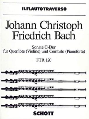 Johann Christoph Friedrich Bach - Sonate C-Dur - Flöte Violine u. Cembalo Klavier - Partition - di-arezzo.fr