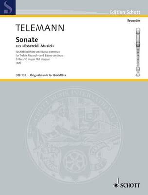 Georg Philipp Telemann - Sonate C-Dur – Altblockflöte u. Bc - Partition - di-arezzo.fr