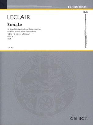 Jean-Marie Leclair - C-Dur Sonata op. 1 n ° 2 - Flöte (o. Violine) u. BC - Sheet Music - di-arezzo.co.uk