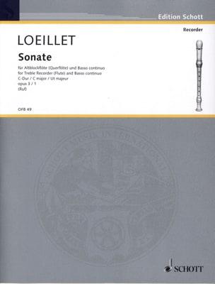 Sonate C-Dur op. 3 n° 1 - Altblockflöte u. Bc - laflutedepan.com