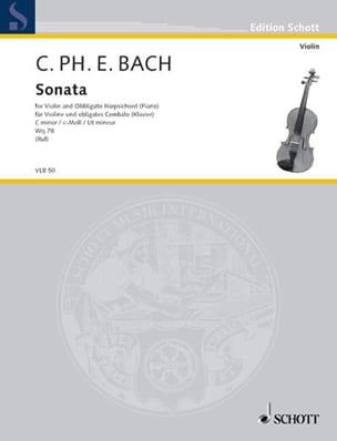 Carl Philipp Emanuel Bach - Sonate en Ut Min. Wq 78 - Partition - di-arezzo.fr