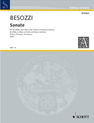 Alessandro Besozzi - Sonate D-Dur - Flöte o. Oboe, Violine u. Bc - Partition - di-arezzo.fr
