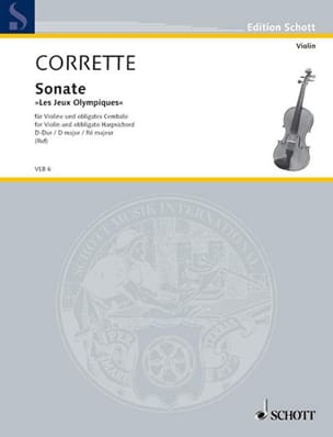Michel Corrette - Sonate The Olympic Games op. 25 n ° 5 D-Dur - Sheet Music - di-arezzo.co.uk