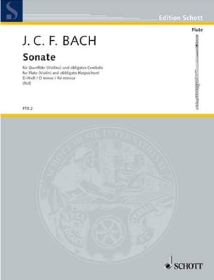 Sonate D-Moll -Flöte o. Violine u. obligates Cembalo Klavier - laflutedepan.com