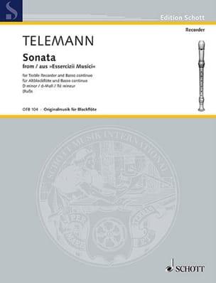 TELEMANN - Sonate D-Moll - Altblockflöte u. Bc - Partition - di-arezzo.fr