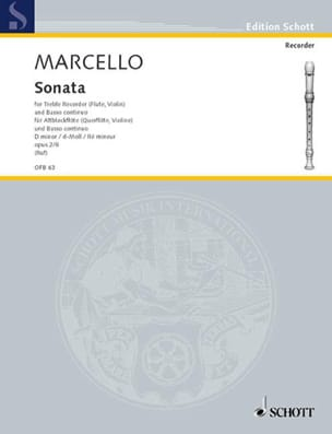 Sonate d-moll, op. 2 n° 8 - Altblockflöte u. Bc - laflutedepan.com