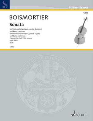 Sonata E-Moll, op. 26 n° 4 BOISMORTIER Partition laflutedepan