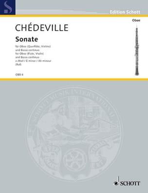 Nicolas (Le cadet) Chédeville - Sonate e-moll – Oboe (Violine, Flöte) u. Bc - Partition - di-arezzo.fr