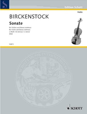 Sonate en mi mineur - Johann Adam Birckenstock - laflutedepan.com