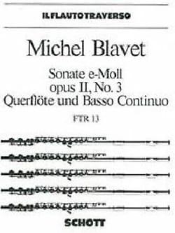 Michel Blavet - Sonate e-moll op. 2 n° 3 – Flöte und Bc - Partition - di-arezzo.fr