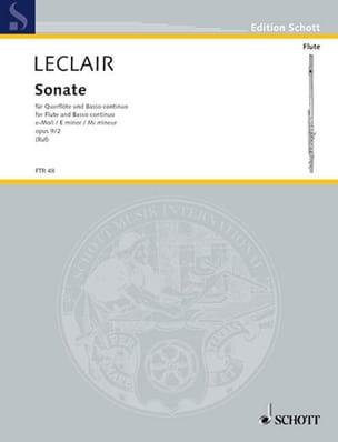Jean-Marie Leclair - Sonata E-Moll Mi Min., Op. 9 No. 2 - Flauta y BC - Partitura - di-arezzo.es